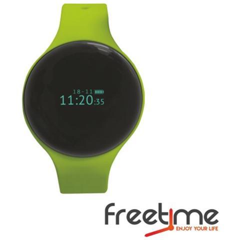 "Techmade Smartwatch FreeTime Display 0.66"" Bluetooth Verde - Italia"