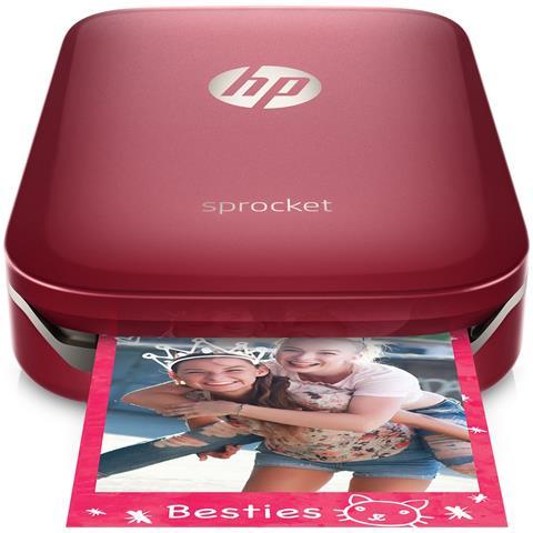 HP Sprocket Stampante Fotografica Istantanea Portatile per foto formato 5,1x7,6cm Rosso