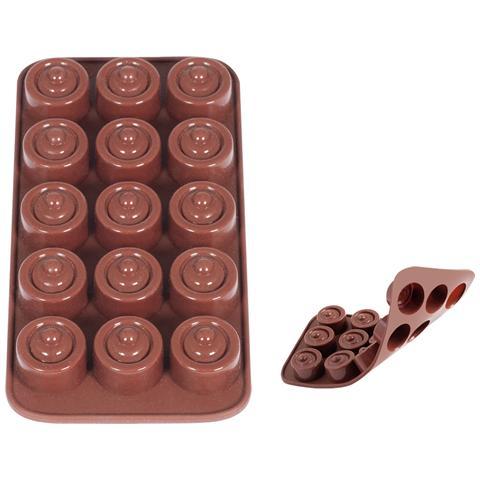 HOME Set 3 Stampi 15praline Silicone Choco Pasticceria