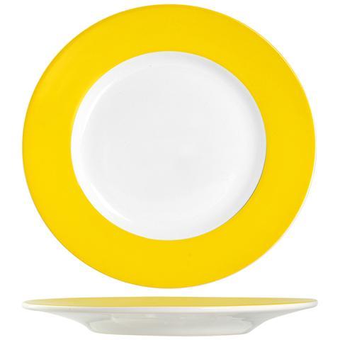 H&H Piatto F / giall Ala Frutta Cm20 Stoviglie