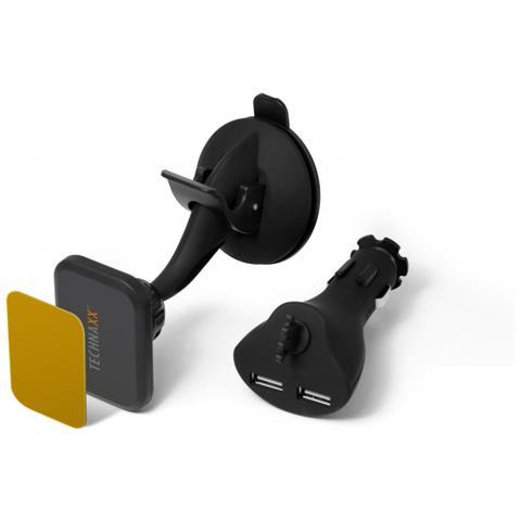 Technaxx Supporto Magnetico per Auto Technaxx TE09 con funzione di ricarica