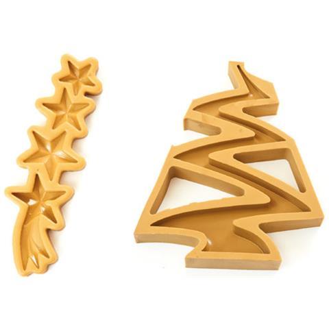 060501 - Sugarflex Gold 060501 Natale Cornice Albero Di Natale Con 3 Stelle E Co