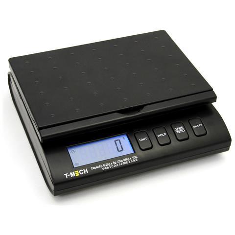 Bilancia Postale Digitale Nera 36kg Per Ufficio E Casa Con 4 Modalità Di Peso