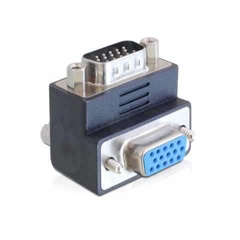 DeLOCK 65289 VGA VGA Nero, Argento cavo di interfaccia e adattatore