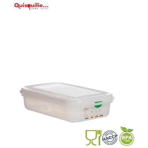 Denox Contenitore Gastronorm Gn Coperchio Ermetico Polipropilene -40°+100° Certificato Haccp Made In Spain - Gn 1/4- H150- Lt4,3