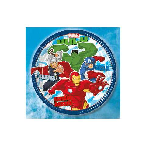 Como Giochi Avengers Assemble - 8 Piatti 23 Cm