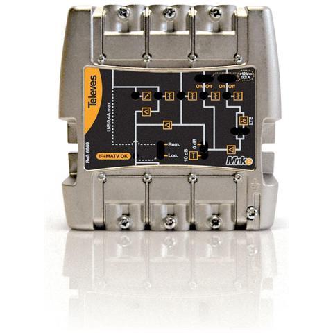 TELEVES 562302 – Amplificatore Minikom 5i / 1u '' ''easyf '' '': Fm-v-u-21.32-36.60