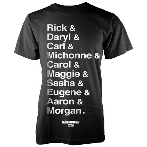 PHM Walking Dead (The) - Names (T-Shirt Unisex Tg. L)