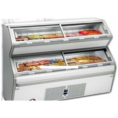 Espositore per gelati e surgelati Dim. cm 200x83x138h Temp. -1 / +5°C