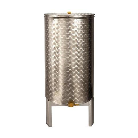Contenitore Maturatore Miele In Acciaio Inox - 70kg - Ø 370mm - H 500mm