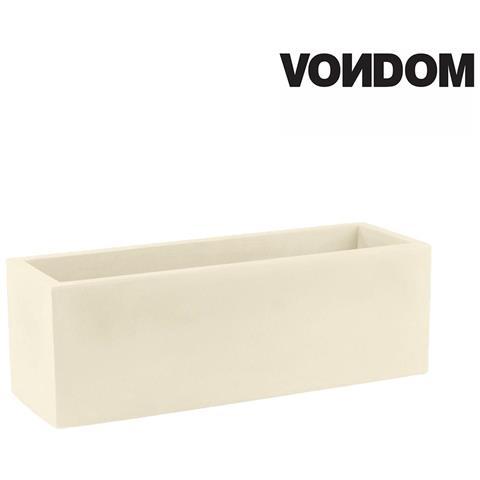 Vaso Modello Jardinera - Ecru Opaco - 80cm