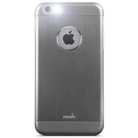 MOSHI Iglaze Armour Cover Rigida Metallica per iPhone 6 Plus / 6s Plus - Gunmetal Gray