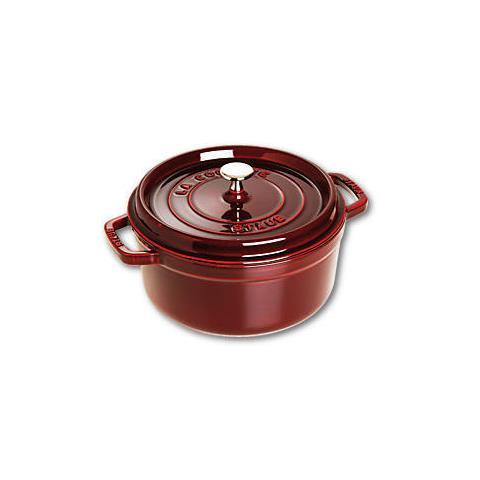 Cocotte in Ghisa con Coperchio Diametro 24 cm Capacità 3.8 lt Colore Rosso - Linea La Cocotte
