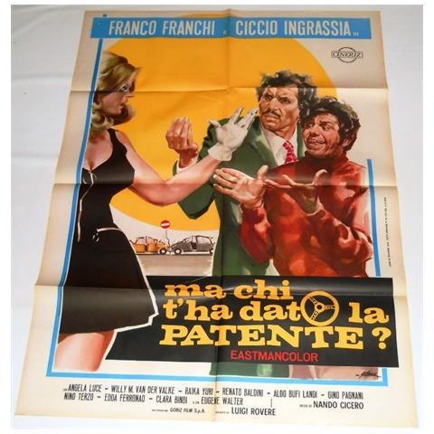 Vendilosubito Manifesto Originale Del Film Ma Chi T' ha Dato La Patente Con Franco E Ciccio