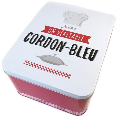 scatola di metallo 'io sono un vero nastro blu bianco rosso - 31x24x15 cm - [ p1432]