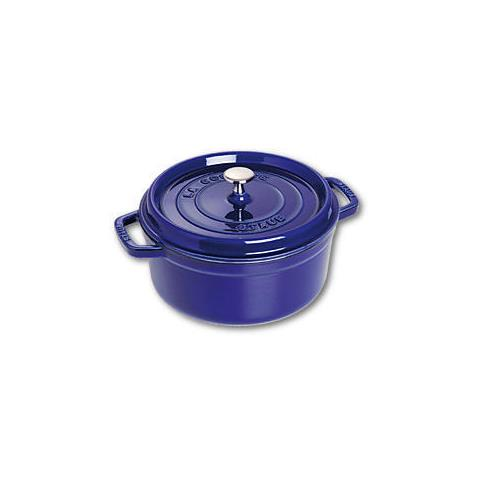 Cocotte in Ghisa con Coperchio Diametro 24 cm Capacità 3.8 lt Colore Blu Scuro - Linea La Cocotte
