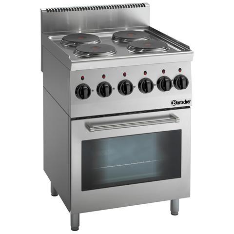 131764 Cucina a 4 fuochi elettrici con Forno elettrico multifunzione