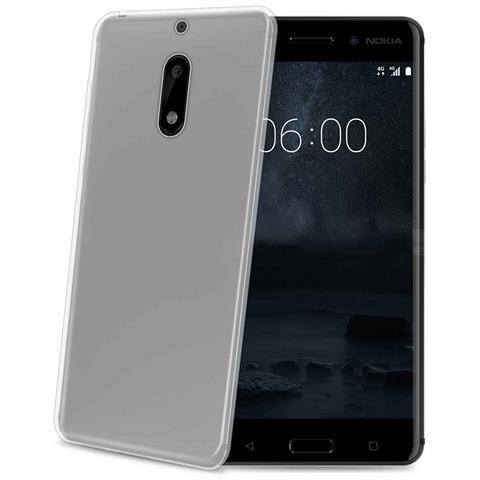 CELLY Custodia per Nokia 6 Colore Trasparente