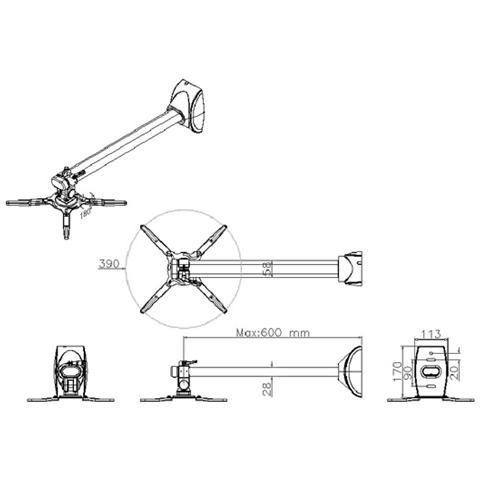 Roline Wall Projector Mount, 10 kg