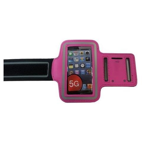 NetworkShop Custodia Fascia Da Braccio Sport Armband Fucsia Per Iphone 5