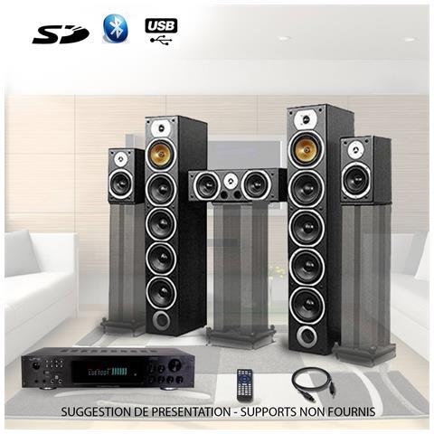 Image of Ensemble Home Cinema Cavo Stereo Amplificatore 360w + 1240w V9b-bk + Atm8000bt +