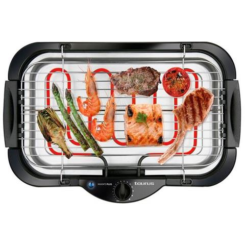 Maxim's Plus Barbecue-Grill Elettrico, 2000 W, Plastic, Multicolore
