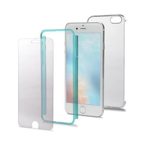 CELLY Custodia TotalBody360 per iPhone 7 Plus - Trasparente / Verde