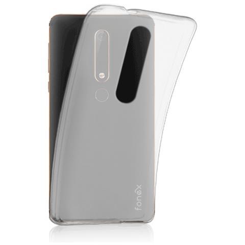 FONEX Custodia TPU Inv 0,2 mm per Nokia 6 2018 colore Trasparente
