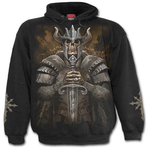 SPIRAL Viking Warrior Black (Felpa Con Cappuccio Unisex Tg. L)