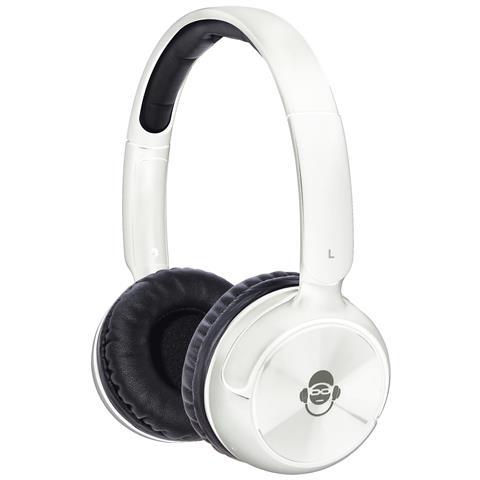 iDance BLUE100, Stereofonico, Padiglione auricolare, Bianco, Bluetooth, 2.1+EDR, Sovraurale
