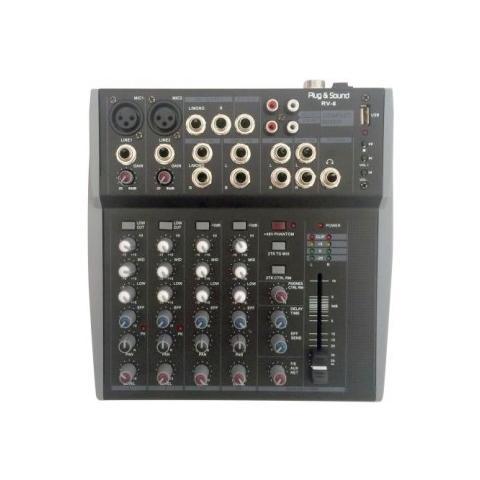 Plug & Sound Mixer Audio Professionale 8 Canali Con Ingresso Usb Art. Rv-6