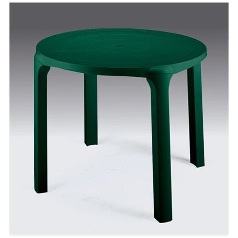 Tavolo Giardino Tondo Ole' Diametro 90 Cm Verde