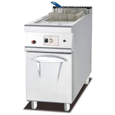 Friggitrice Inox Professionale A 1 Vasca Da Litri Lt 28 A Gas Dim. Cm. 40x90x94