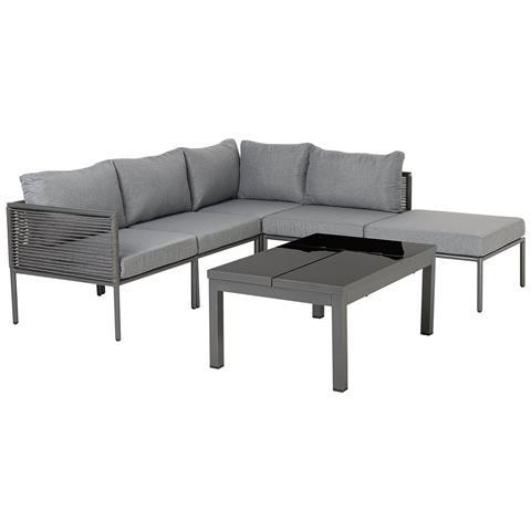 Set Lounge Da Giardino In Alluminio 6 Posti Forano