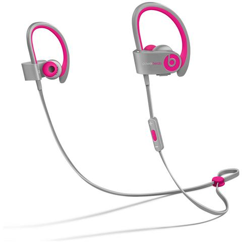 Beats by Dre Auricolari Powerbeats 2 In-Ear Wireless con Remote Talk colore Rosa / Grigio