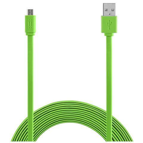 AIINO Samsung Micro USB to USB cable 1,5m Flat - Green