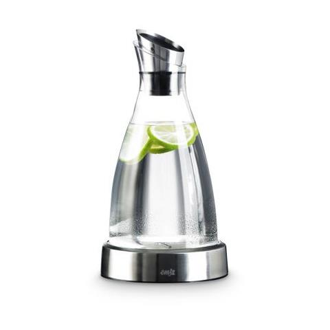Caraffa da acqua Flow 1 l con base refrigerante in vetro