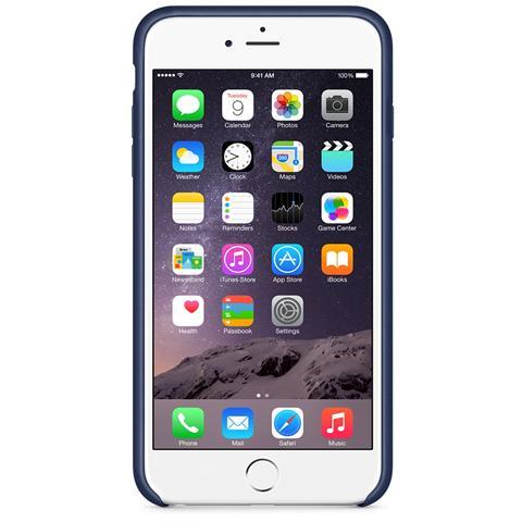 APPLE Custodia in Pelle per iPhone 6 Plus - Blu Notte