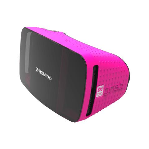 """HOMIDO VR Grab per Smartphone da 4.7"""" - 5.7"""" Android / iOS - Nero / Rosa"""