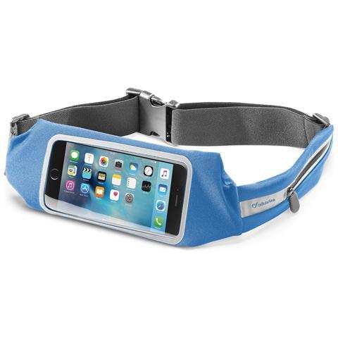 CELLULAR LINE Cintura Sport Con Finestra Blu