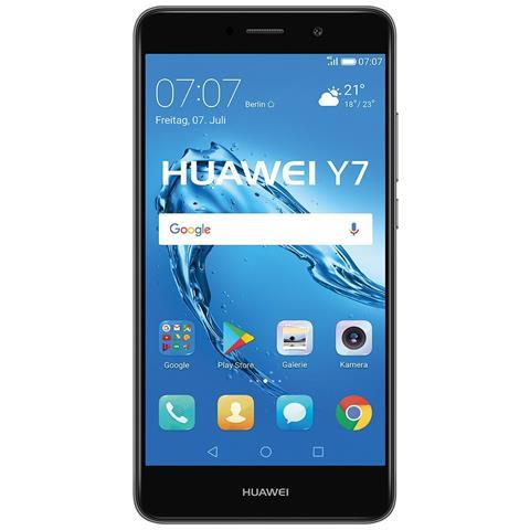 "HUAWEI Y7 Grigio 16 GB 4G / LTE Display 5.5"" HD Slot Micro SD Fotocamera 12 Mpx Android Europa"