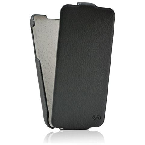 FONEX Slim Plus Custodia a Flip in Ecopelle per iPhone 5C Colore Nero