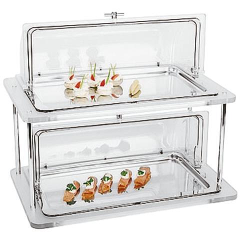 Vetrina Refrigerata 2 Piani Buffet Inox