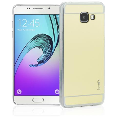 FONEX Vanity Cover in Morbido TPU con Retro a Specchio per Galaxy A5 (6) Colore Trasparente Oro