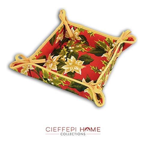 Cieffepi Home Collections - Cesto Portapane Noel Rosso