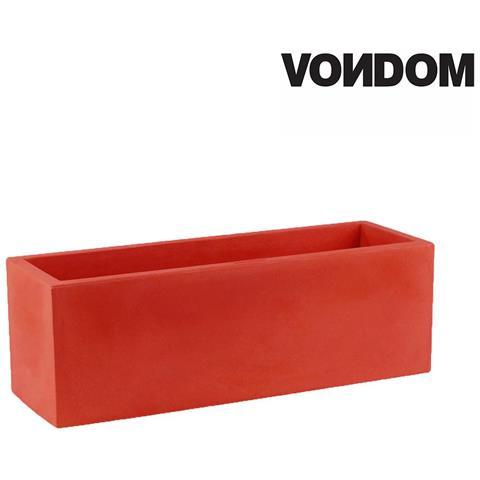 Vaso Modello Jardinera - Rosso Opaco - 100cm