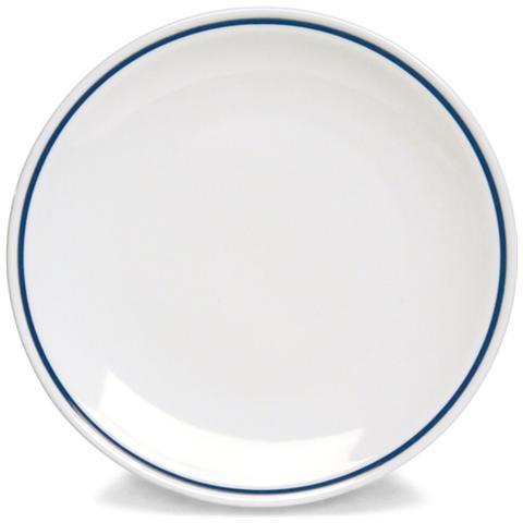 TOGNANA Piatto Piano Bianco / Blu 25 cm