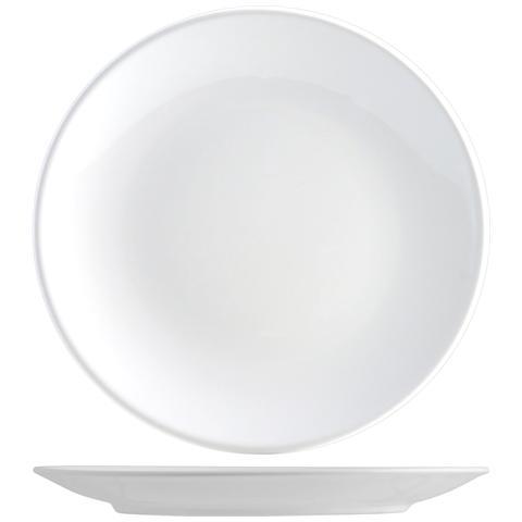 H&H Set 6 Piatto Coupe Iris Bianco Piano Cm26 Tableware