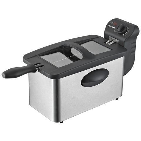 Friggitrice M06468 Capacità 3.5 Litri 2000 Watt Colore Nero e Grigio