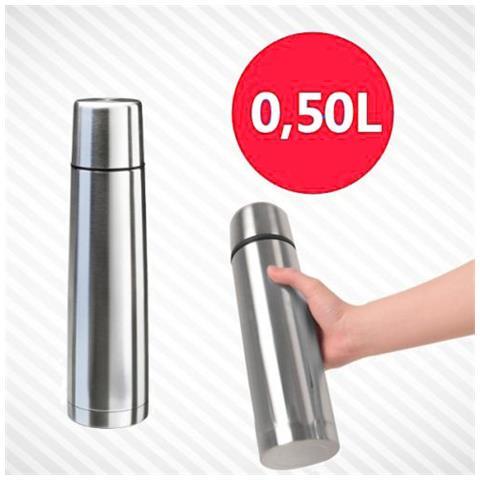 Termos 0,5 L Grande Borraccia Termica Porta Vivande Acciaio Inox Thermos Contenitore